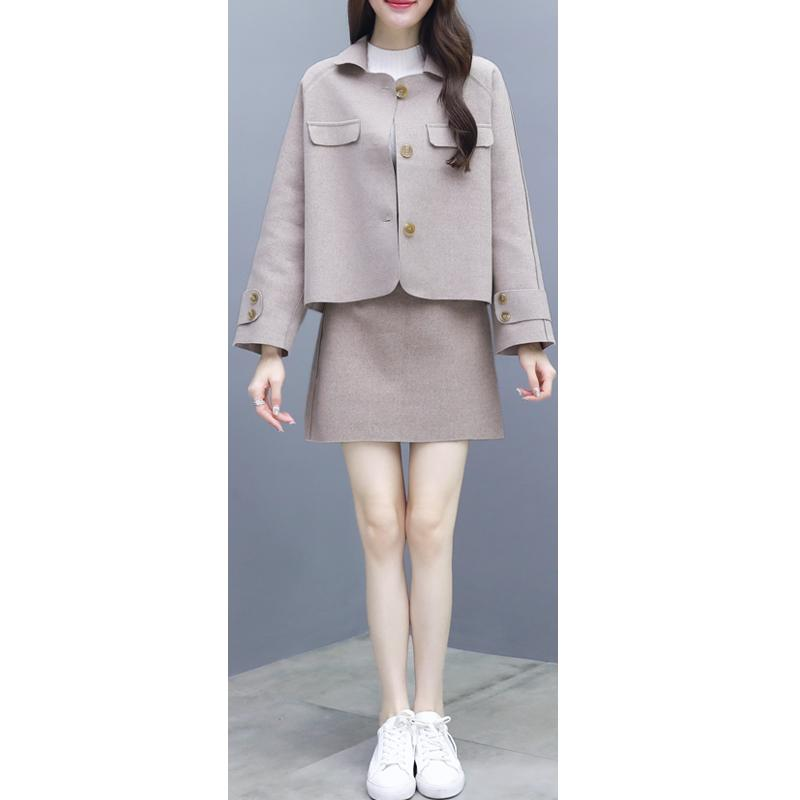 looser jacket top & short skirt or pants women coat clothing set lady Korean fashion outfits casual vestido top trousers clothes