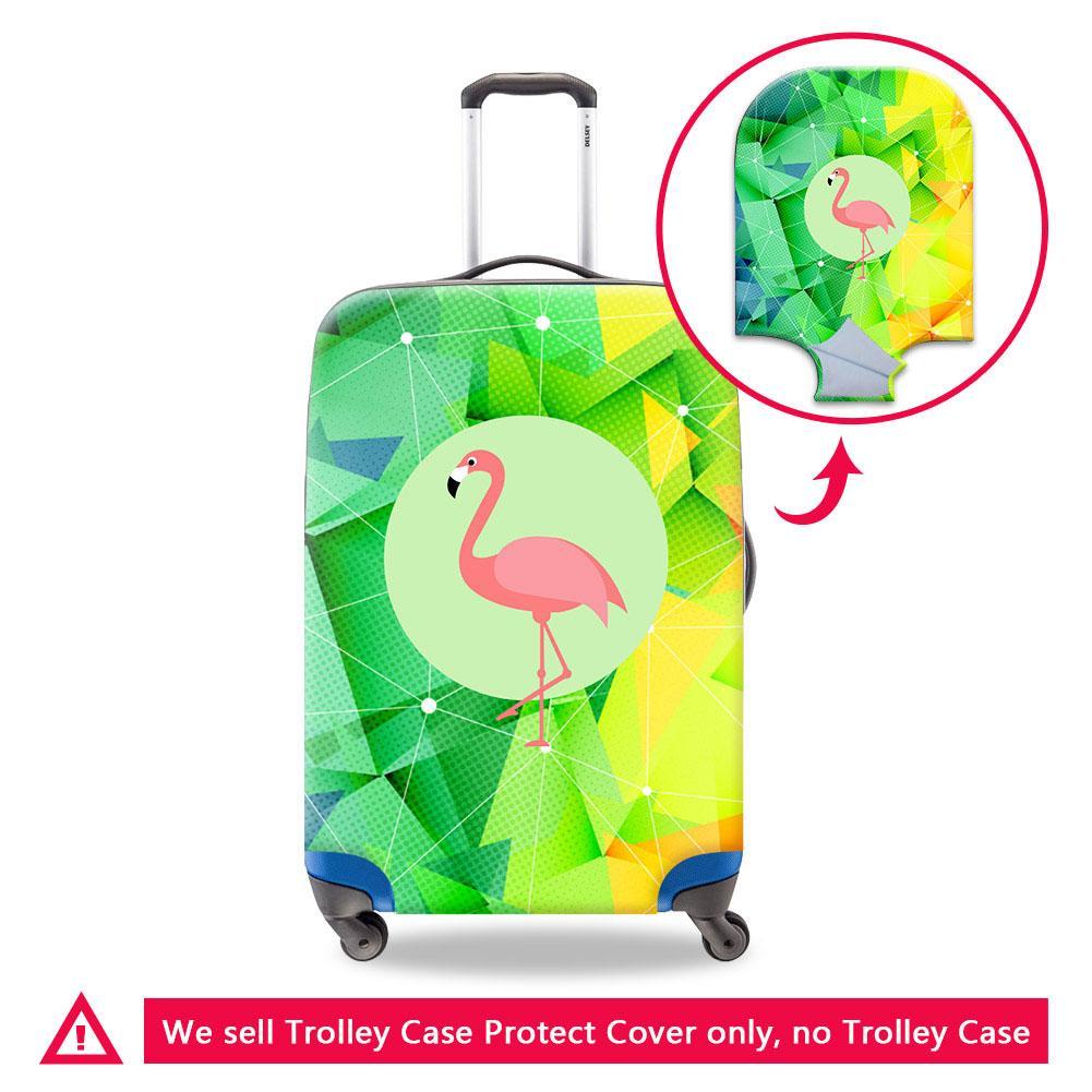 Caso impresión 3D Flamingos para la cubierta protectora de animales de equipaje Maleta Aplicar a 18-30 pulgadas del tronco cubiertas impermeables para el equipaje Accesorios