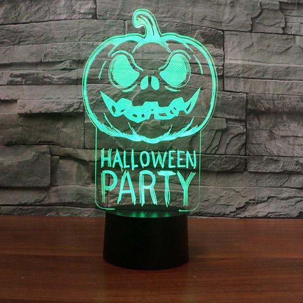 Halloween Parties 2020 Dc 2020 Pumpkin Halloween Party Lamp 3D Optical Illusion Lamp Night