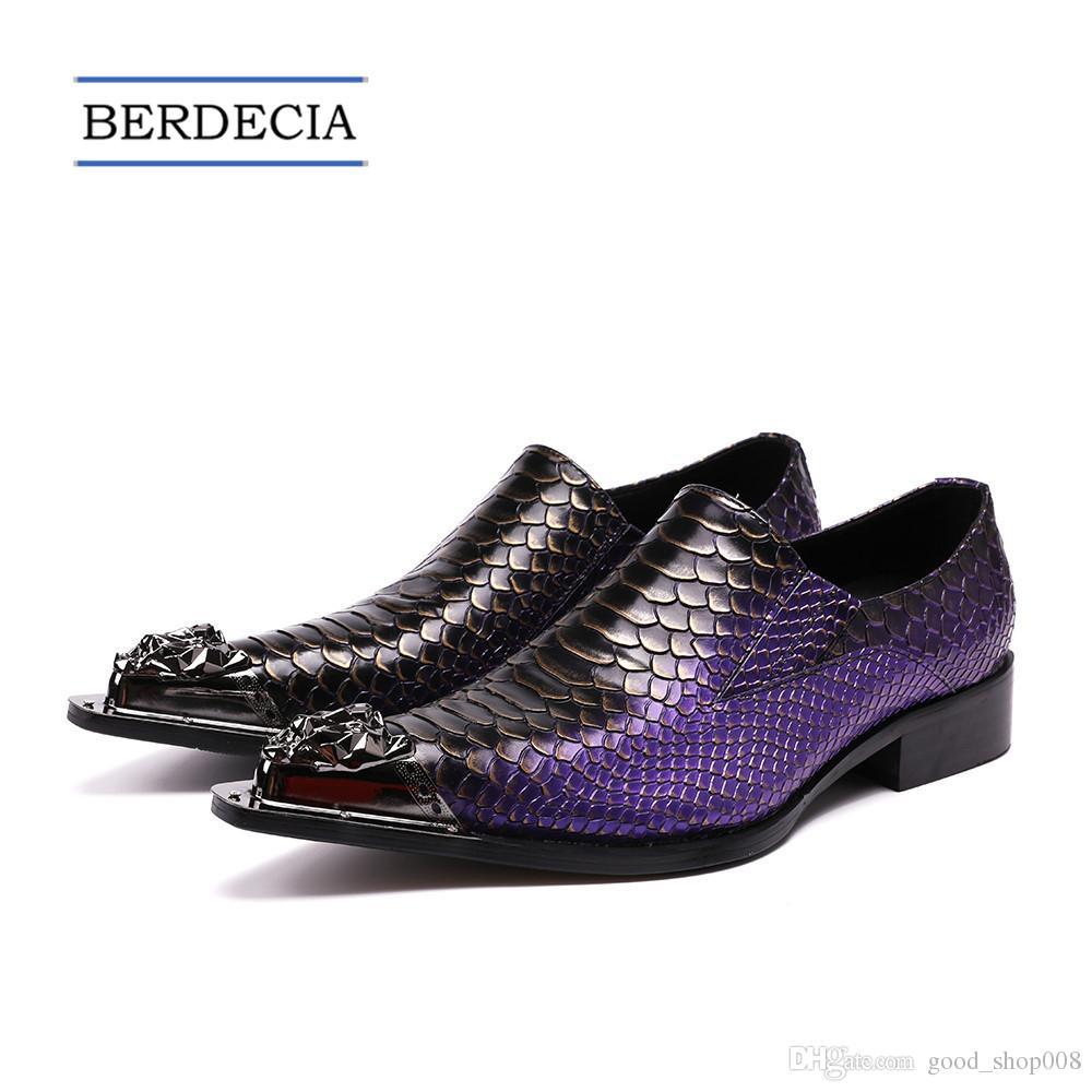 2018 Designer de Serpente Padrão Homens Sapatos Formais Sapatos de Vestido de Casamento de Couro Genuíno Plus Size Escritório de Negócios Oxford Sapato Tamanho 38-47