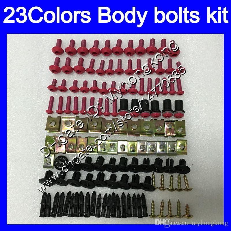 pernos kit de carenado tornillo completo Para tornillos KAWASAKI ZX11R 90 91 92 ZX11R ZX11 R ZZR1100 1990 1991 1992 Tuercas cuerpo de la tuerca 25colors kit perno