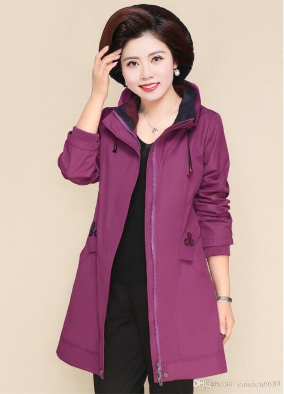 Moda di alta qualità donna giacca a vento 2018 autunno / inverno nuovo antivento giacca a vento lungo sezioni cappotti plus size donne L-5XL