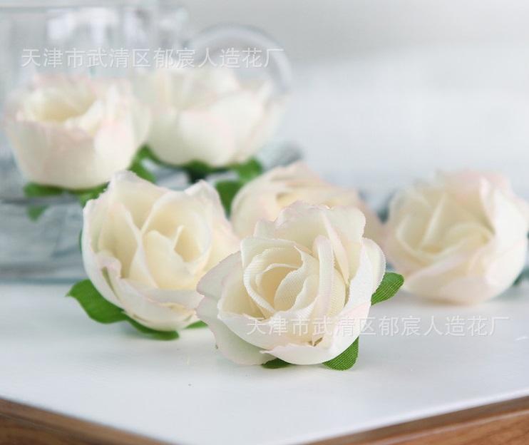 Fleurs synthétiques décoratives rose pâle rose pâle (fausse soie)