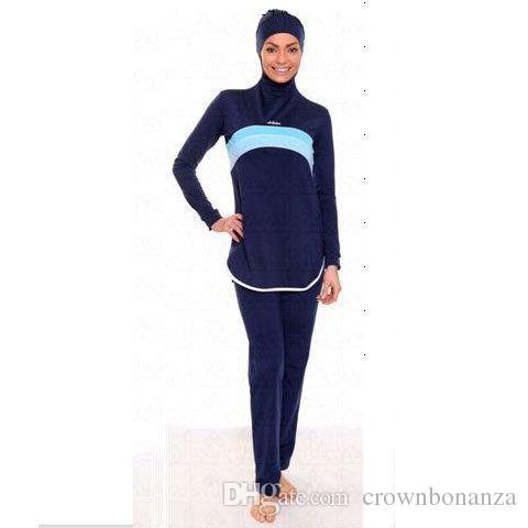 1bb6c2b448ac3 ... Muslim Swimwear Islamic Women Modest Hijab Plus Size Burkinis Wear  Swimming Bathing Suit Beach Full Coverage ...