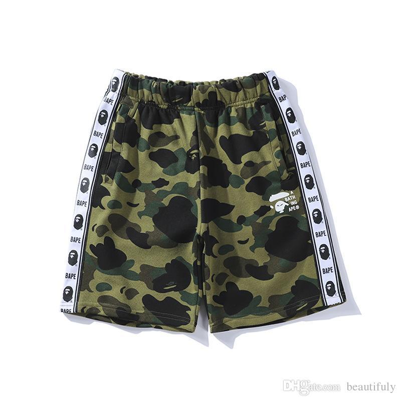 Yeni Yaz Moda Maymun Pantolon Kamuflaj Baskı Rahat Pantolon Erkekler için Justin Bieber Juvenil Rahat Şort Pantolon Ucuz Satış