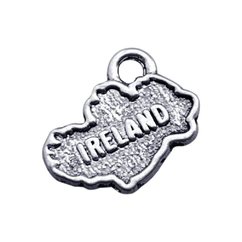 50 PCS Handmade Liga IRLANDA Dupla Face IRLANDA Dangle Charme Jóias Para DIY Antigo Acessórios de Jóias de Prata