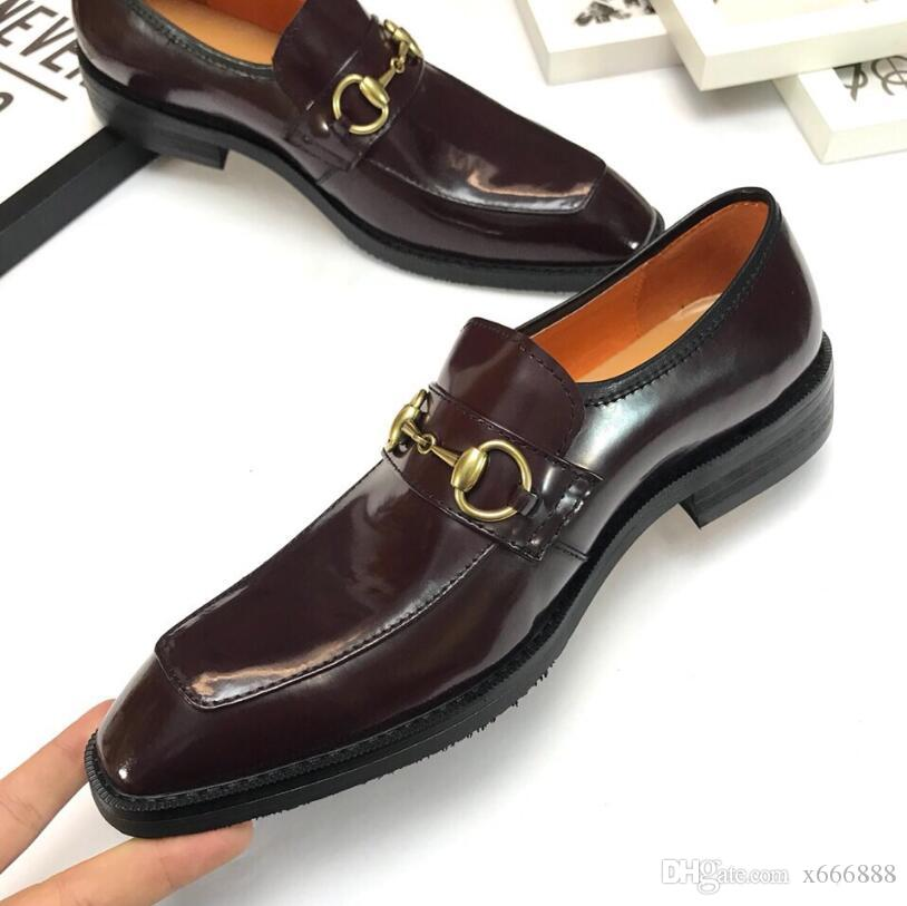 Men Dress Leather Shoes Formal Genuine Leather Business Casual Shoes Men Dress Office Luxury Shoes Male Breathable Oxfords