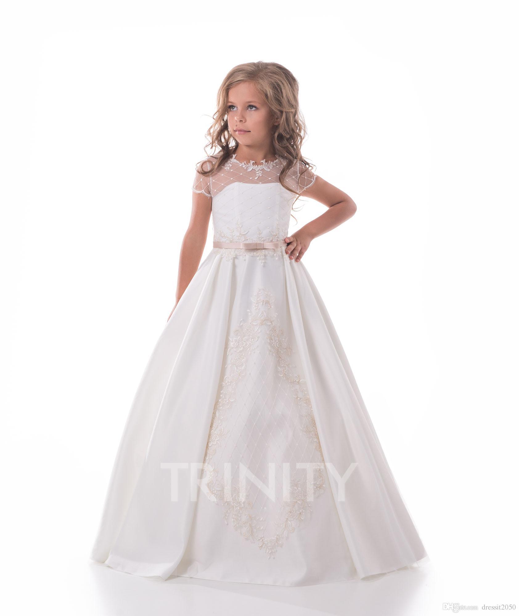 GIRLS CHILDREN GLITZ NATIONAL PAGEANT LONG DRESS Formal Wedding Party sz 3-14