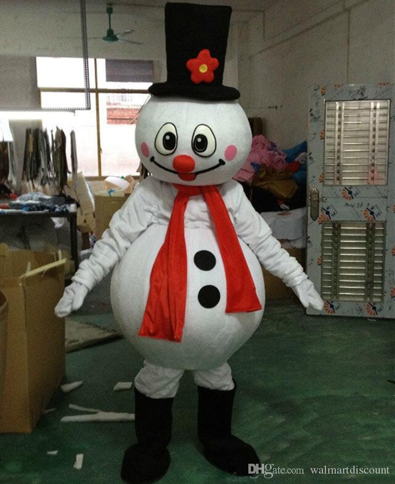 할로윈 파티 용품에 대한 2019 공장 직접 판매 크리스마스 눈사람 마스코트 의상 인기있는 크리스마스 할로윈 눈사람 의상