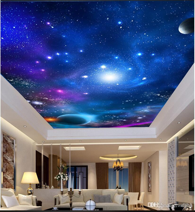 3d Ceiling Murals Wallpaper Custom Photo Non Woven Mural 3d Wall Murals Wall Papers Home Decor Cosmic Sky Ceiling Ceiling Roof Painting Widescreen Wallpaper Hd Widescreen Wallpaper Pictures From Wdbh 13 59 Dhgate Com