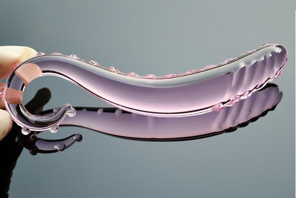 30mm adulto vidro artificial dildo rosa para cristal massageador anal plugue homens falsificados pyrex sexo brinquedo pênis masturbar prostate mulheres gay d18111 apo