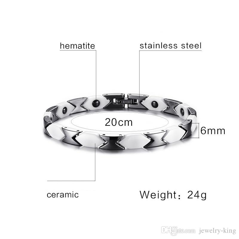 regalo di san valentino ordine misto donne bracciale in acciaio inox bracciale con magnete ematite bracciali fonte fabbrica gioielli fornitore CBRM004