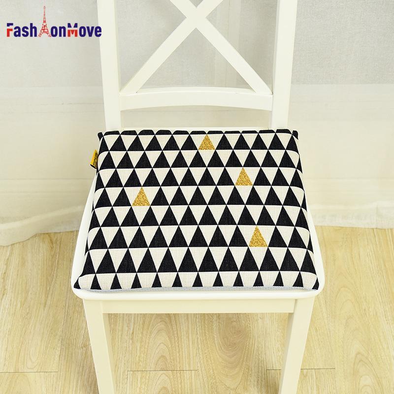 40x40x4cm Geometric Seat Cushion Materassino da salotto in lino cotone con stampa a cuscino Decor per la casa Decorazioni per la casa FashionMove