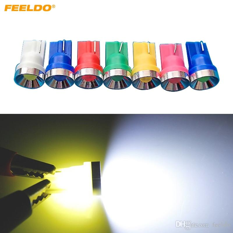 FEELDO 50 PZ 2 W Auto T10 194 W5W Alluminio Auto Cupola LED Luce Laterale Car Side Wedge Lampada 7 Colori # 4594