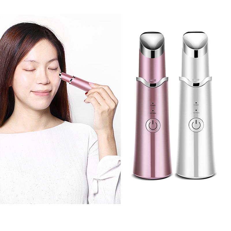 Mini Cheap Electric Heated Sonic Wrinkle Fade Dark Circles Eye Bags Vibrating Anti-wrinkle Lips Eye Massager Beauty Instrument Device