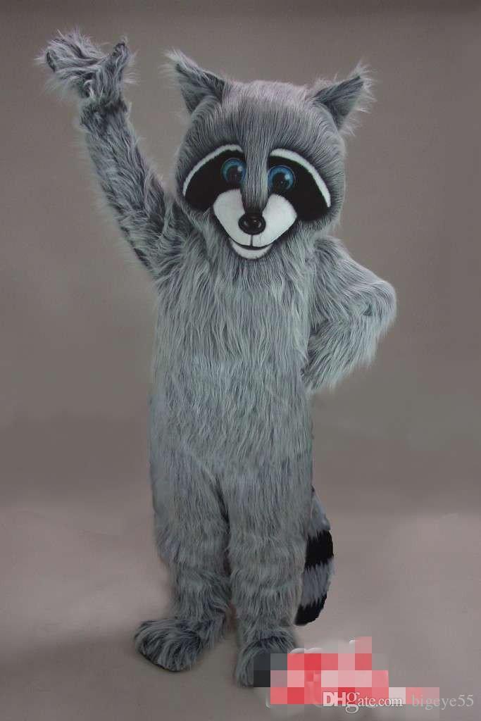 Özel Yeni tasarlanmış Rakun maskot kostüm Yetişkin Boyutu ücretsiz kargo