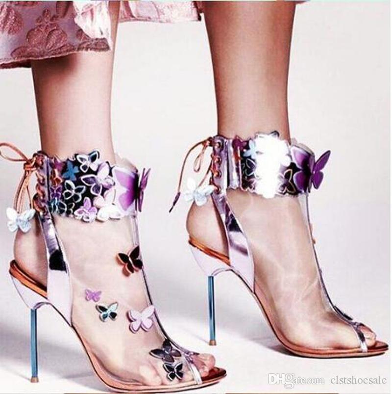 Panie Piękne siatki Kolorowe Bowties Design Stiletto Heel Krótkie buty Peep Toe Back Lace-Up Heel Heel Botki Sukienka Buty