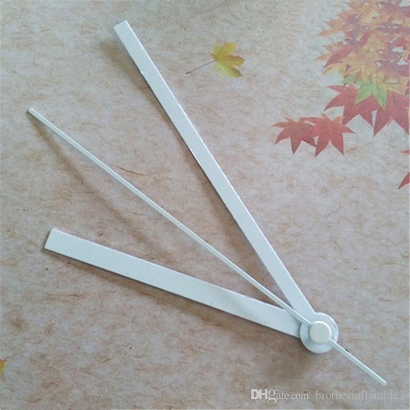 Commercio all'ingrosso 50pcs Mani di metallo bianco dritto per la parete fai da te orologio del quarzo di movimento del meccanismo di riparazione accessori