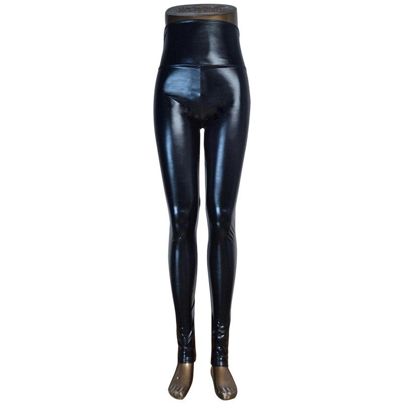 fe3f27e1a6 2019 DISSIMILAR High Waist Shiny Wet Liquid Look PU Faux Leather Metallic  Stretchy Leggings Sexy Dance Pants Disco Leggins 5 Sizes S18101502 From ...