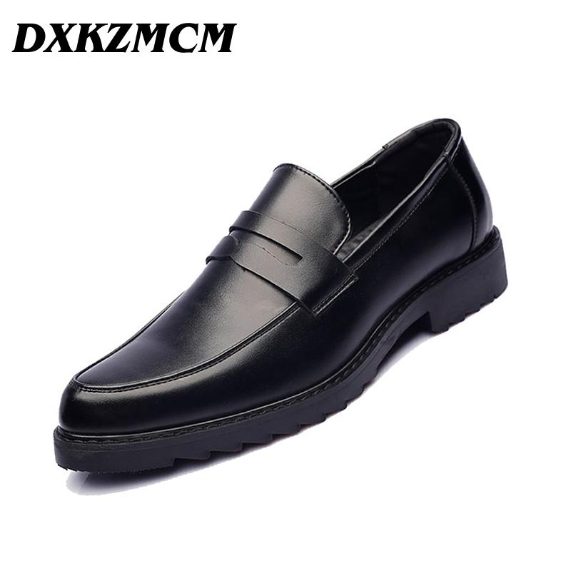 DXKZMCM الرجال اللباس بو الجلود أوكسفورد الأعمال الرسمي أحذية رجالية للحزب