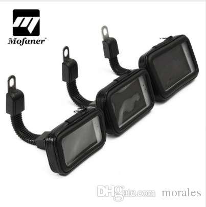 Siyah Motosiklet Bisiklet Telefon Tutucu Su Geçirmez Çanta Case 3.5 için 5.5 Inç L M S Boyutu Evrensel Navigasyon Braketi