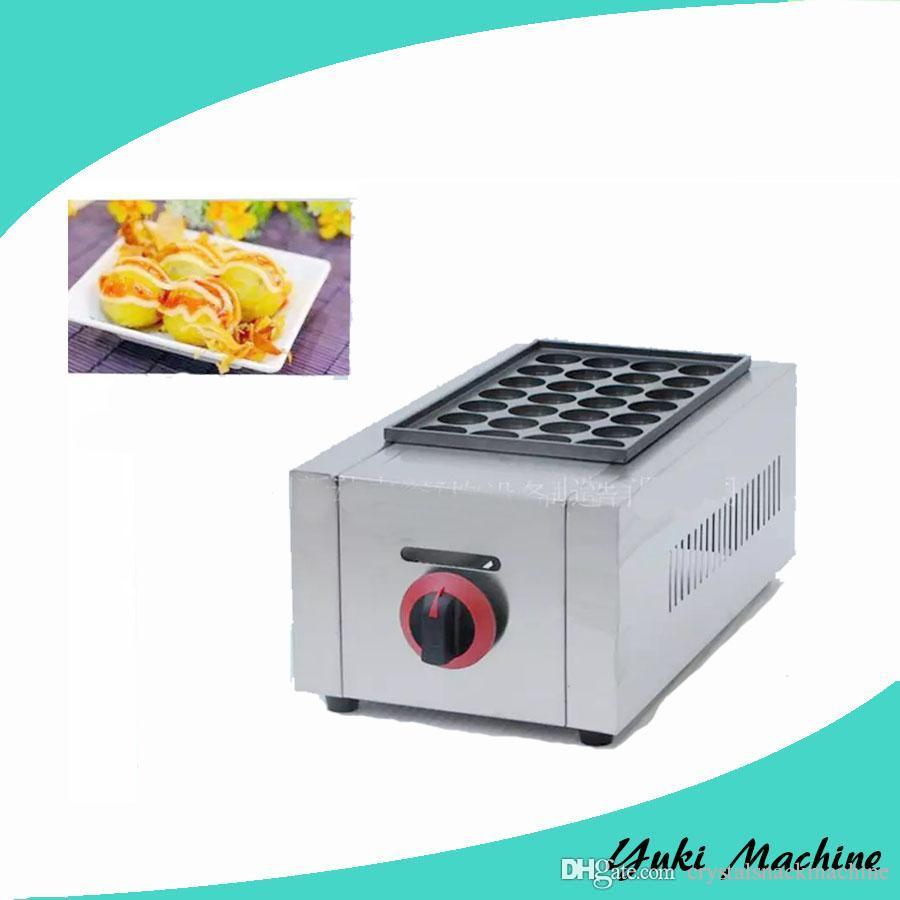 Tek Plaka Gaz Takoyaki Maker Takoyaki Pan Makinesi Popüler Snack Gıda Makinesi Ticari Gaz Takoyaki Izgara Makinası