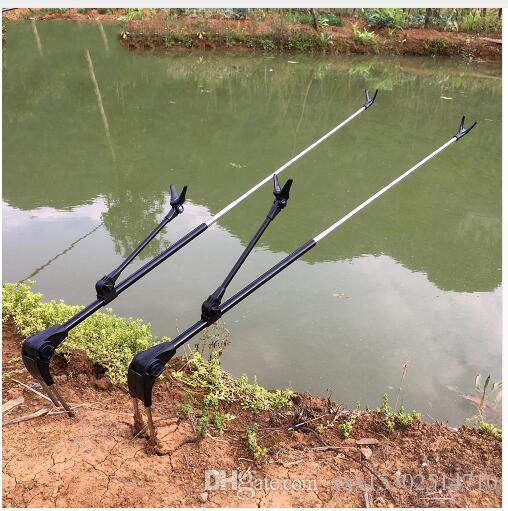 Fish Rod Stand Bracket Angle Adjustable Fishing Rods Holder 1.7M 2.1M Telescoping Fishing Tool Hand Rod Holder