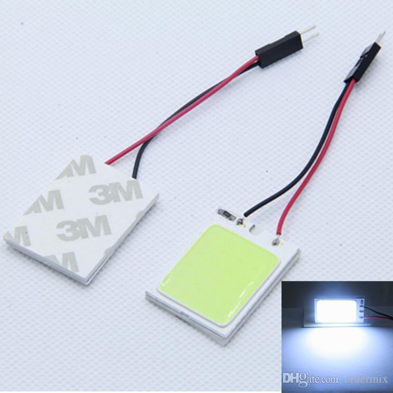 Uniwersalny 18 COB LED Lampa wnętrza samochodu Kopuła Mapa światła mapy czytanie lampy samochodowej + T10 Connector Car-Styling