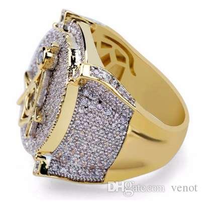 Медь Мирко проложить CZ камень хип-хоп масон кольцо все замороженные CZ камень кольца DR003