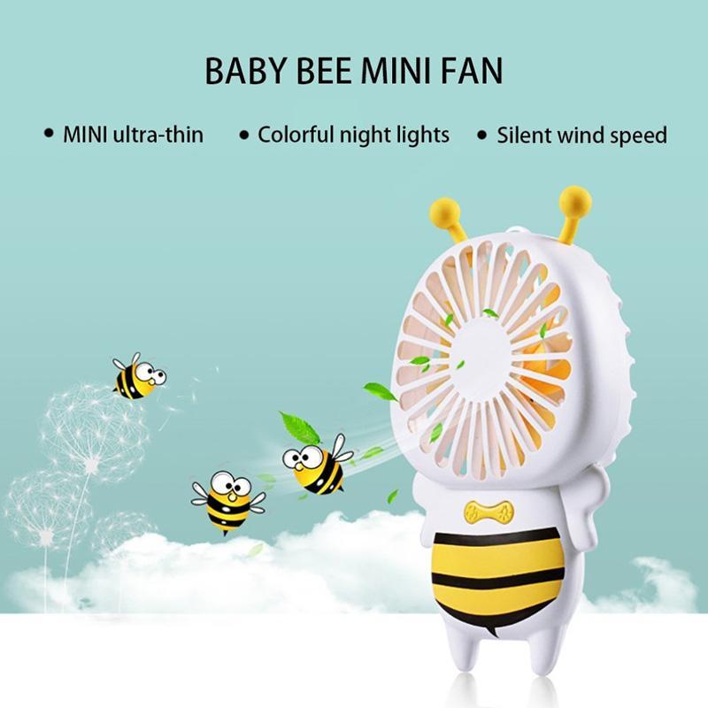 Noolim مروحة صغيرة محمولة ، قابلة للشحن الشخصية ليتل النحل USB مروحة لغرفة مكتب في الهواء الطلق المنزلية السفر المنزل للأطفال