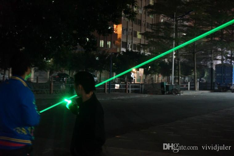 Лучший полный меди яркий 520nm 1000000 метров зеленый лазерный указатель мини портативный водонепроницаемый