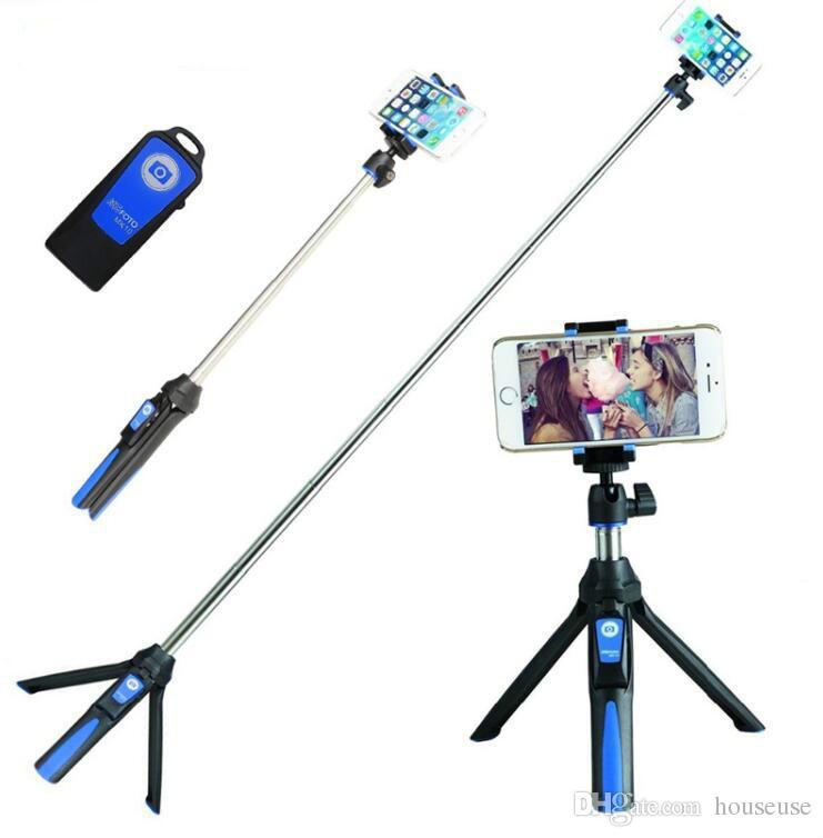 33inch 휴대용 삼각대 Selfie 스틱 3 1 블루투스 확장 가능 Monopod Selfie 스틱 삼각대 아이폰 8 삼성 Gopro 4 5