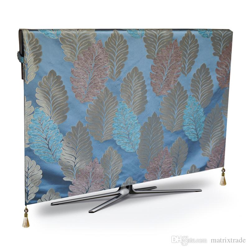TV Dust Cover Luxury Weatherproof Dust-proof Protect LCD LED Plasma Television Table Runner Cloth Placemat Mat Cushion Cover