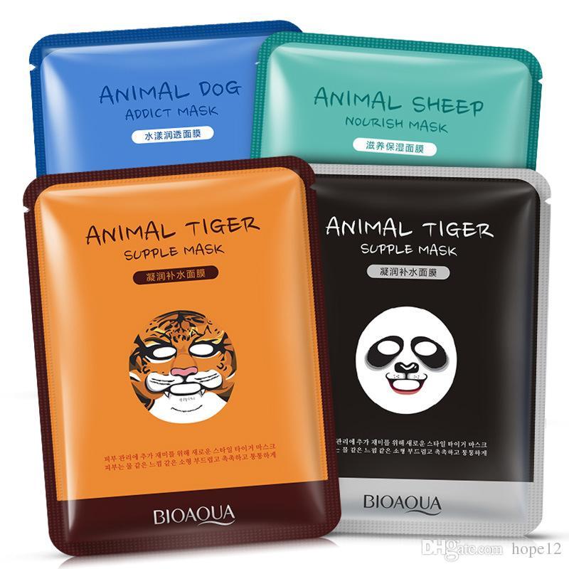 BIOAQUA Tiger Panda овчарка Форма животные маски для лица увлажняющего масла управления Hydrating питательных масок для лица