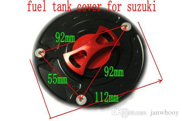 دراجة نارية تعديل الملحقات قطع التصنيع باستخدام الحاسب الآلي سقف النفط سبائك الألومنيوم الوقود غطاء خزان للسوزوكي GSXR / 600/750/1000/1300 / K7 / K8 / SV1000
