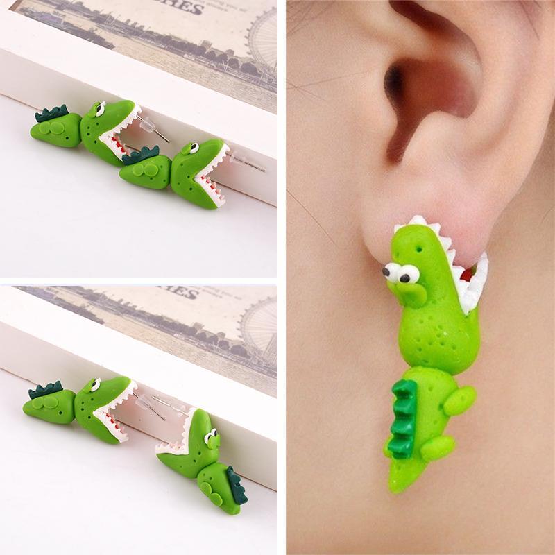boucle d'oreille crocodile