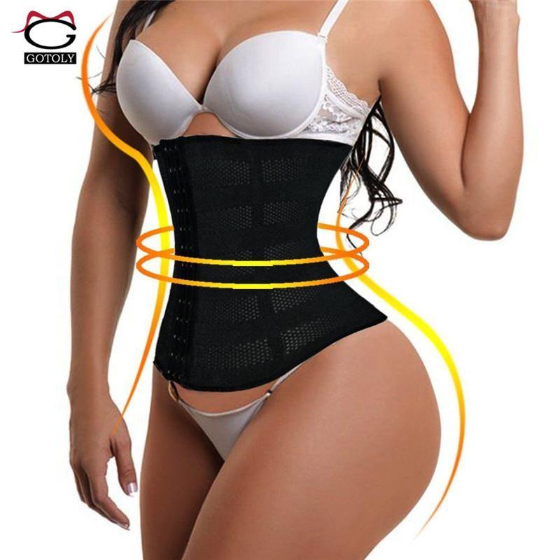 Gotoly Artı Boyutu 6XL Bel Eğitmen Kemer Kadın Zayıflama Vücut Şekillendirici Iç Çamaşırı Karın Kontrol Bel Cincher Korse Spor Kuşaklar