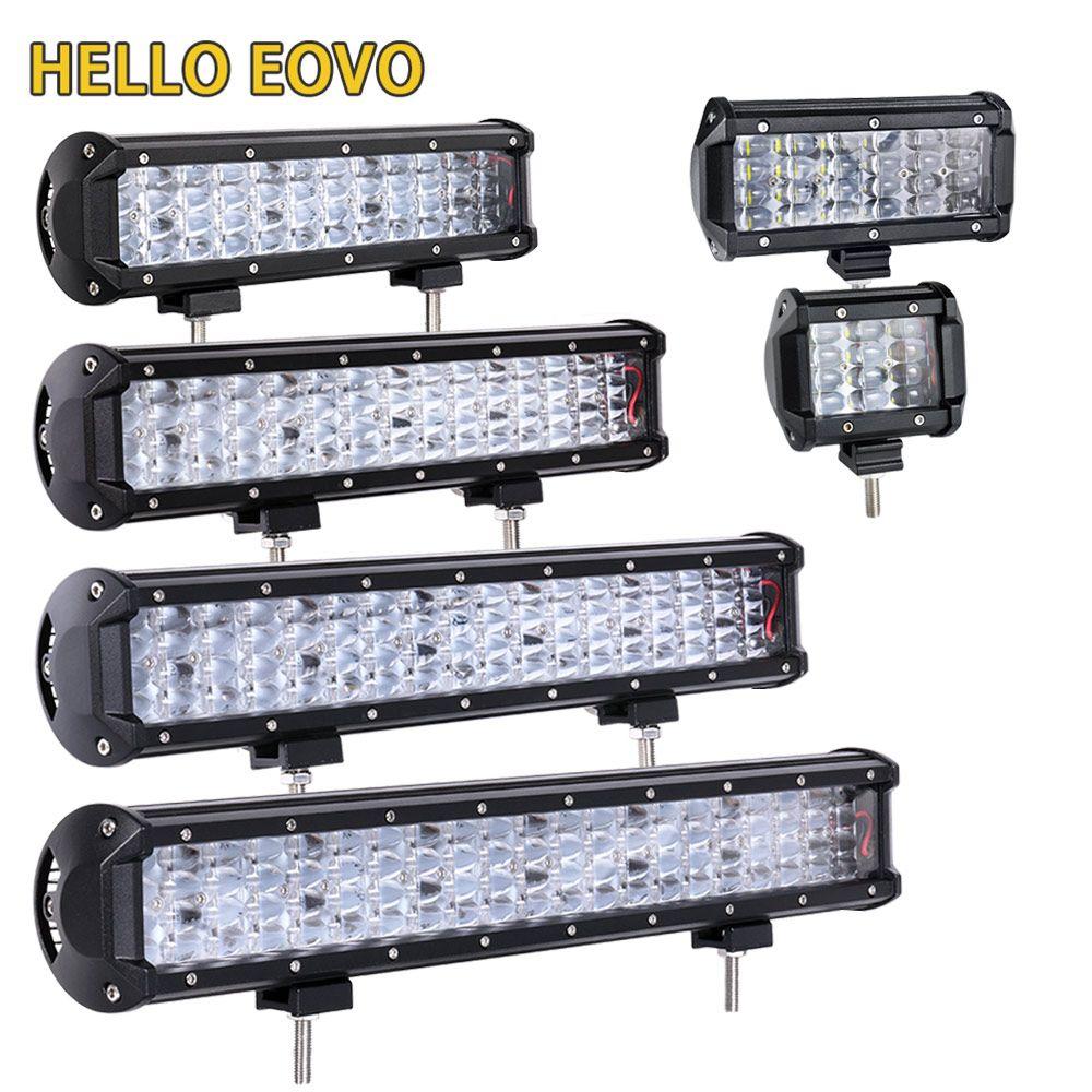 HELLO EOVO LED Bar 4 -22 Zoll LED Light Bar für Arbeitsanzeigen Driving Offroad Boot Auto Traktor LKW 4x4 SUV ATV 12V 24V