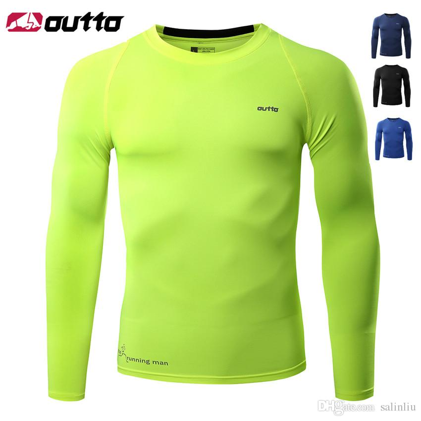 2019 OUTTO Vélo Jersey Collants Manches Longues Vélo Vélo Running Fitness Bodybuilding Respirant Jersey Cycle Base Couches Vêtements