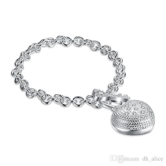 Do bransoletki z rdzeniem z kamiennej posrebrzanej bransoletki; Darmowa wysyłka Mężczyźni i kobiety 925 Srebrna bransoletka SPB062