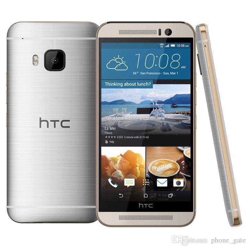"""الأصلي مجدد HTC ONE M9 مقفلة الهاتف المحمول رباعية النواة 5.0 """"شاشة تعمل باللمس الروبوت GPS WIFI 3GB RAM 32GB ROM الهاتف الذكي"""
