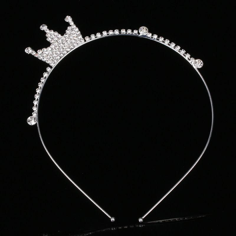 2018 Flower Girl Crown Drill Hoop Nouveaux Enfants Headpieces Princesse Couronne Cadeau D'anniversaire Jolie Fille Voir Oreilles De Lapin Cheveux