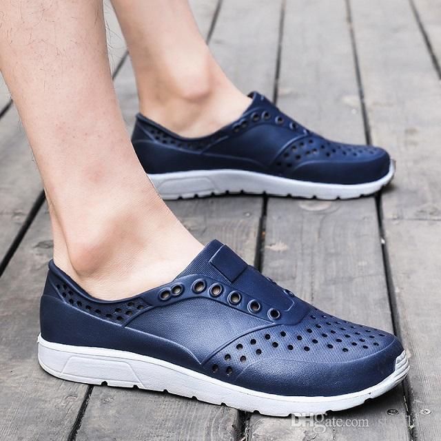 Man Q-26 için ayakkabı Flats Ayakkabı zorla ilerlemek Erkekler Yaz Hollow Out Nefes Plaj Sandalet Casual Açık Terlik sandalet