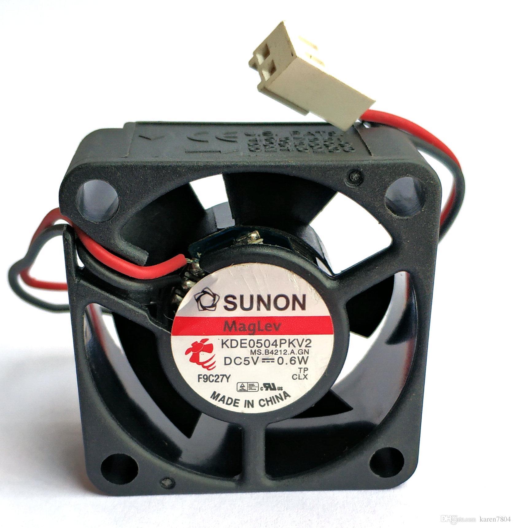 Original SUNON KDE0504PKV2 MS.A.GN 4020 5V 0.6W 4cm 2 wires computer cooling fan