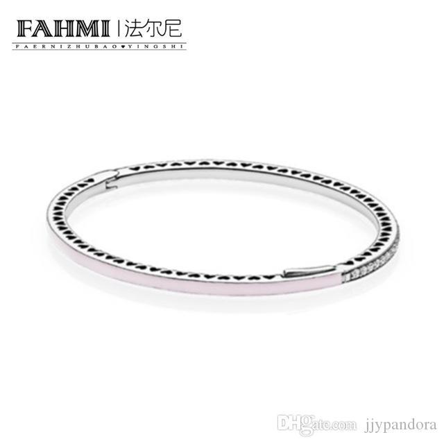 FAHMI 100% 925 plata esterlina 1: 1 Original auténtico 590537EN68 encanto pulsera básica conveniente DIY joyería moldeada de las mujeres