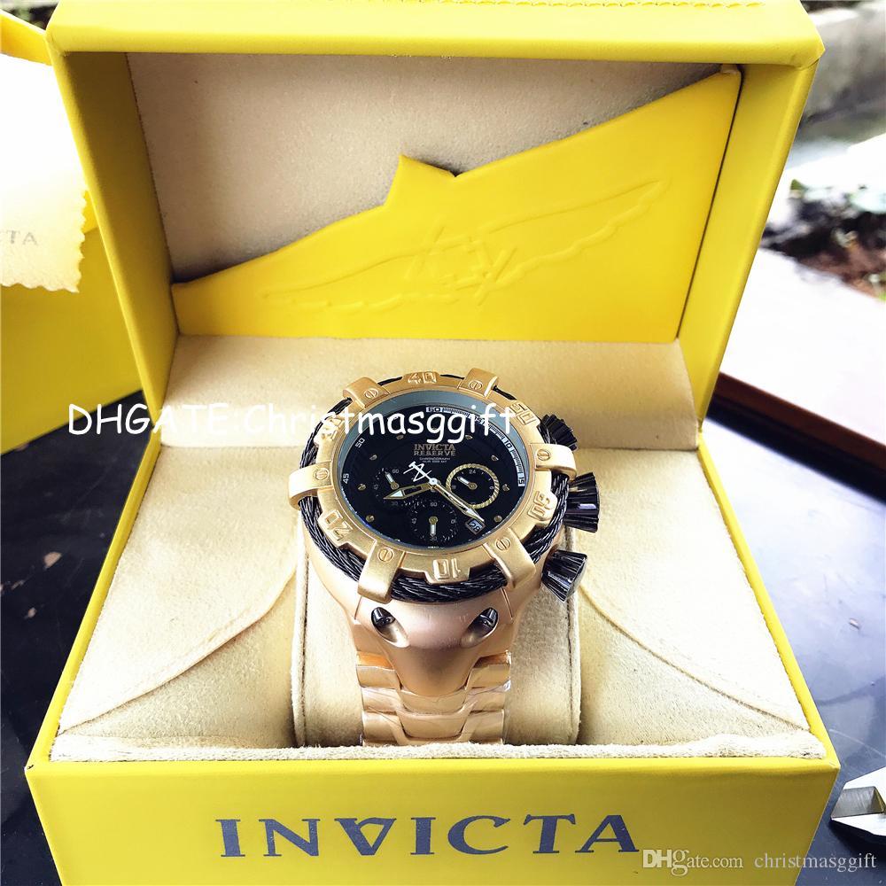 Noël nouveau quartz 5 mens dz saphir montres de luxe de luxe sur la suprématie inoxydable bracelette cadeau de bracelet de l'arrière-cadeau de la marque Mens Montre Fonction Full WPNWO