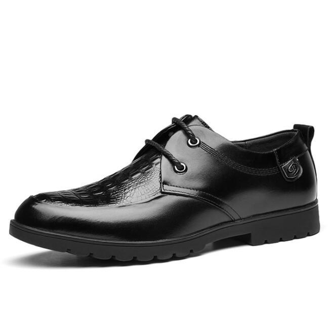 Zapatos de cuero genuino de la marca Oxford para hombres Zapatos de cocodrilo para hombre de negocios Zapatos de vestir para hombres Tallas grandes Boda Hombre Hombre