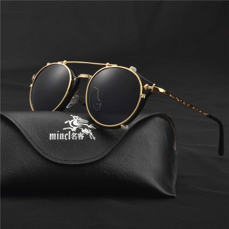 MINCL/Magnet Flat Sunglasses Dual use Clip Mirrored Sunglasses glasses MenClips Custom Prescription Myopia Eyeglasses LXL