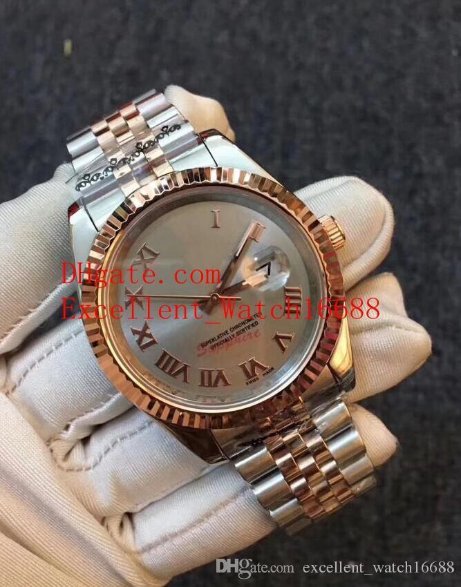 5 Estilo Hot Vender Moda relógios 41 mm 116231 116201 126301 18k Rose Gold Asian 2813 Automático Mecânico relógios de pulso dos homens de Natal gi