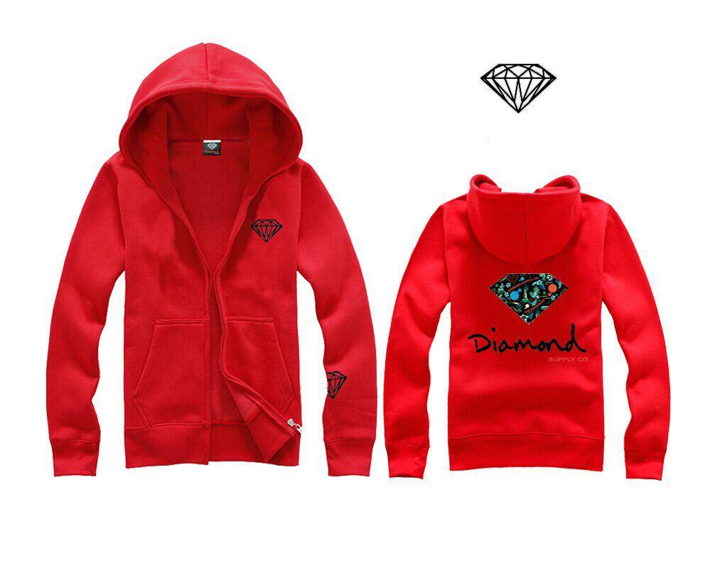 Nuevo estilo de letra y de impresión de diamantes Hombres Mujeres sudadera con capucha de la moda calle de lana cálida sudadera invierno otoño sudaderas H13